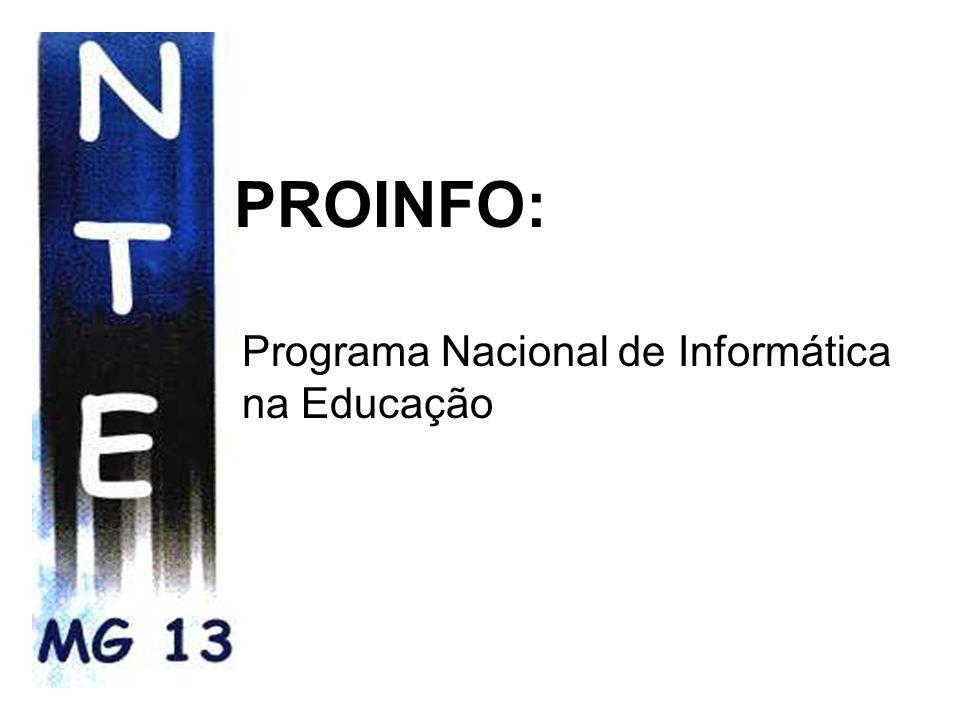 Parceria: NTE- Núcleo de Tecnologia Educacional MEC/SEE-MG Estrutura Organizacional: * 1998/1999 - 20 NTEs * 2002 - 4 NTEs
