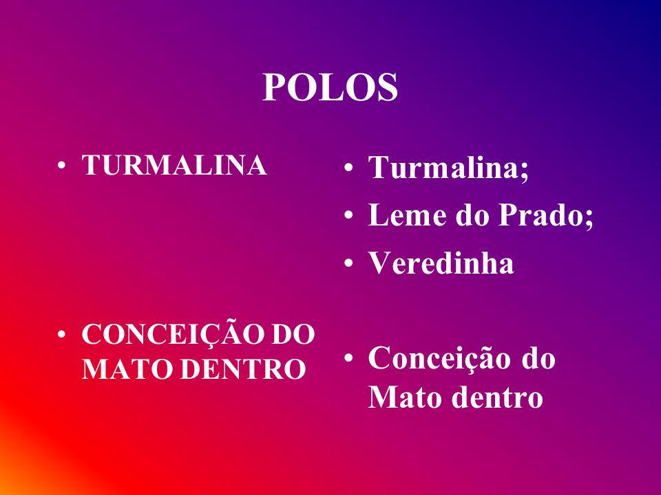 POLOS TURMALINA CONCEIÇÃO DO MATO DENTRO Turmalina; Leme do Prado; Veredinha Conceição do Mato dentro