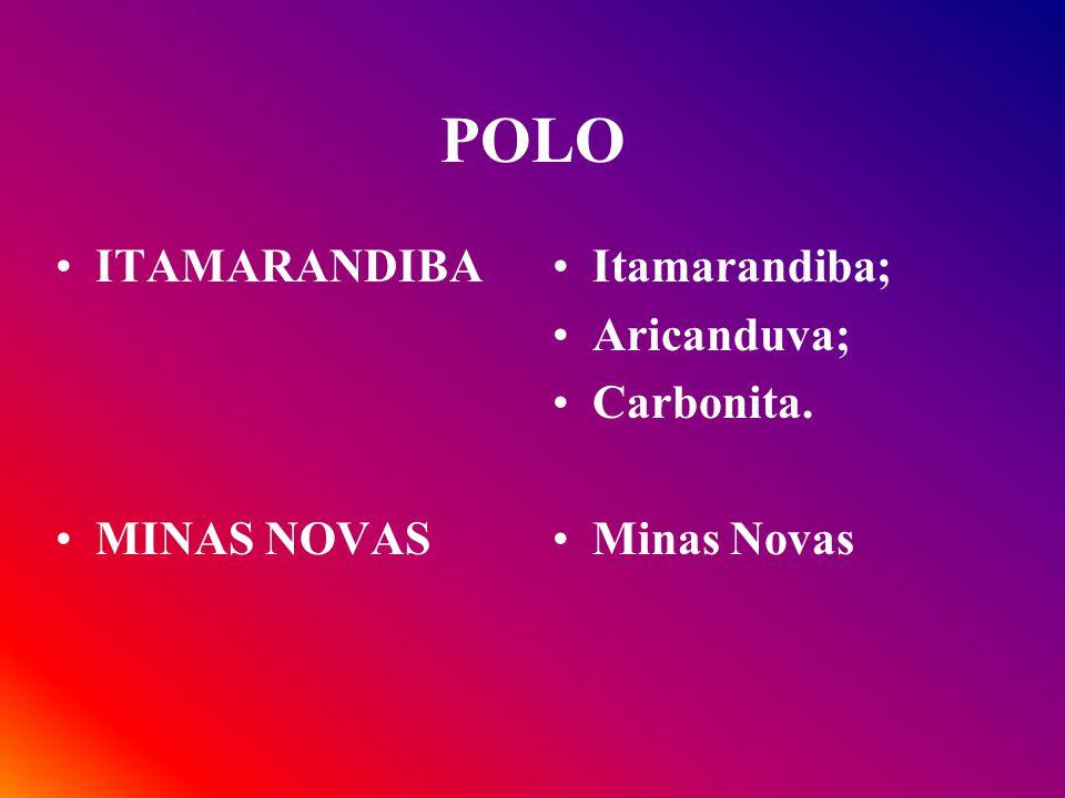 POLOS SERRO CAPELINHA Serro; Alvorada de Minas; Rio Vermelho; Santo Antônio do Itambé; Serra Azul de Minas; Capelinha; Angelândia.