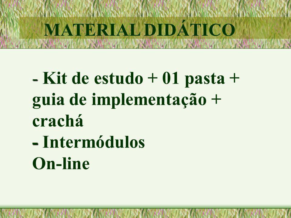 - - - Kit de estudo + 01 pasta + guia de implementação + crachá - Intermódulos On-line MATERIAL DIDÁTICO