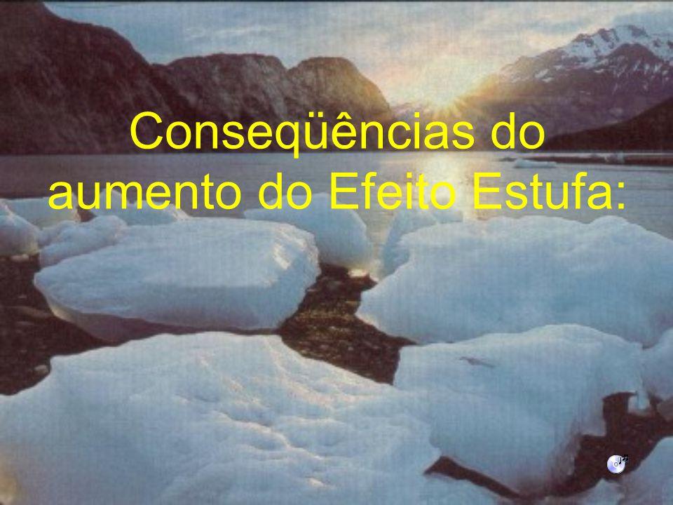 Conseqüências do aumento do Efeito Estufa: