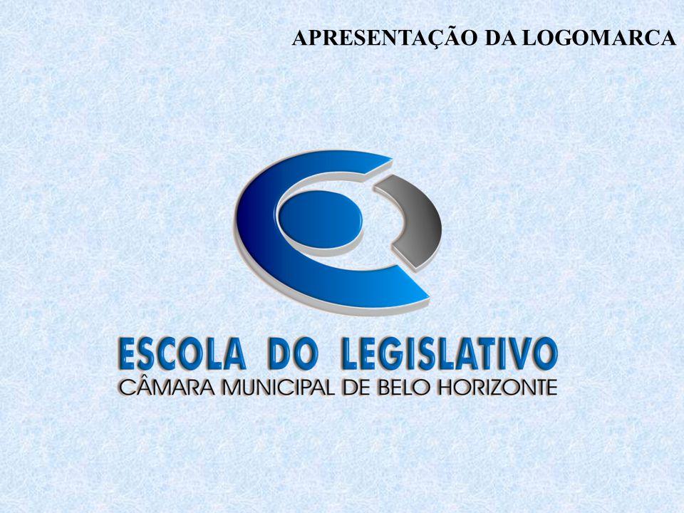 A marca é o elemento visual que identifica a Escola do Legislativo da Câmara Municipal de Belo Horizonte.