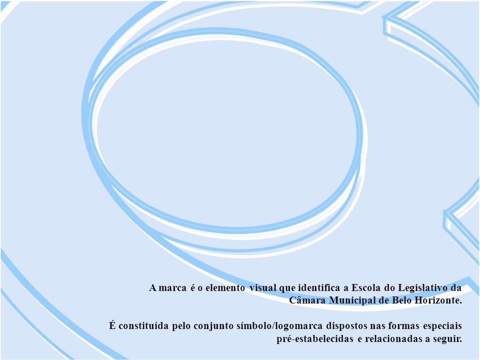 A marca é o elemento visual que identifica a Escola do Legislativo da Câmara Municipal de Belo Horizonte. É constituída pelo conjunto símbolo/logomarc