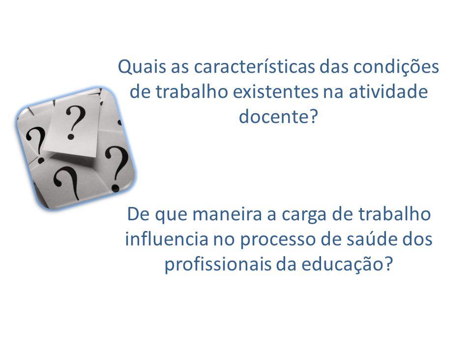 Quais as características das condições de trabalho existentes na atividade docente? De que maneira a carga de trabalho influencia no processo de saúde