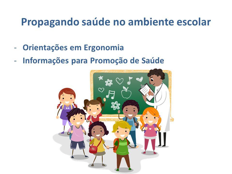 Propagando saúde no ambiente escolar -Orientações em Ergonomia -Informações para Promoção de Saúde