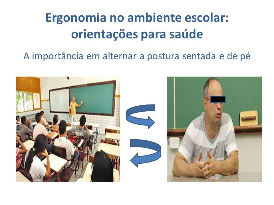 Ergonomia no ambiente escolar: orientações para saúde A importância em alternar a postura sentada e de pé