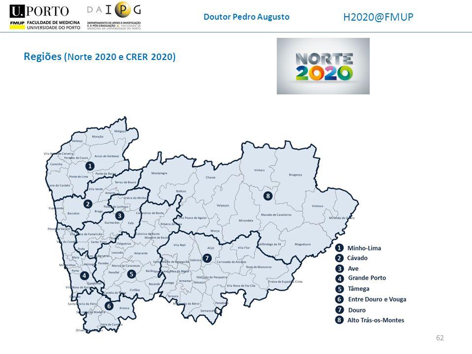 Doutor Pedro Augusto H2020@FMUP Regiões (Norte 2020 e CRER 2020) 62