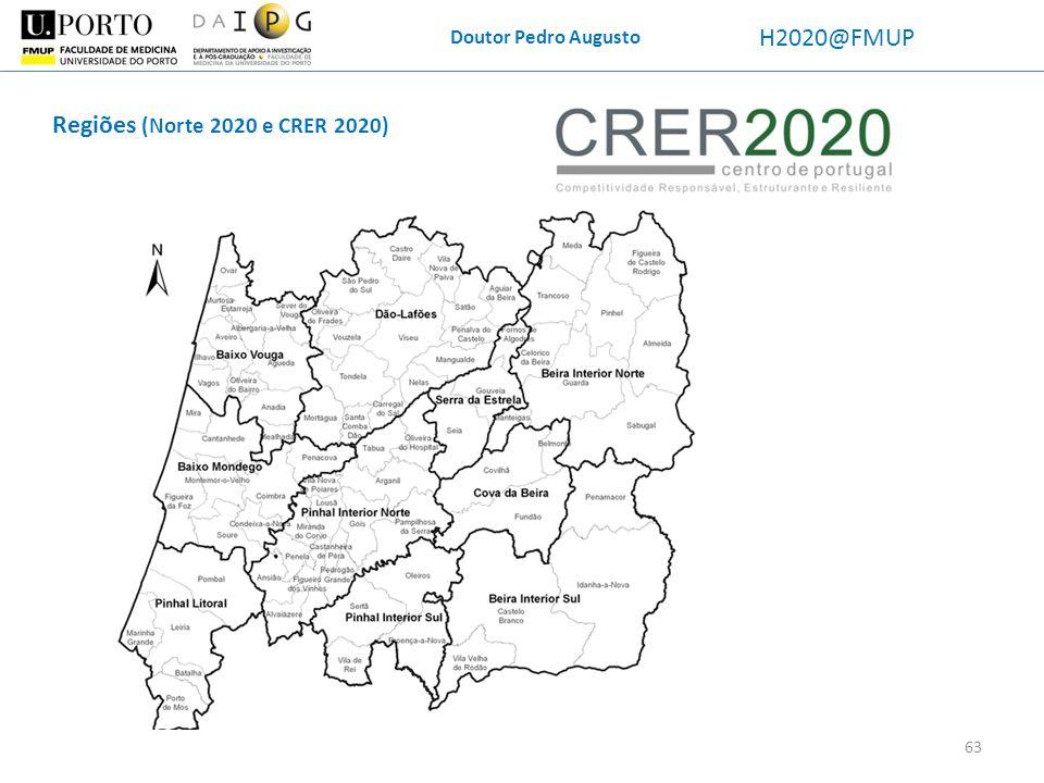 Doutor Pedro Augusto H2020@FMUP Regiões (Norte 2020 e CRER 2020) 63