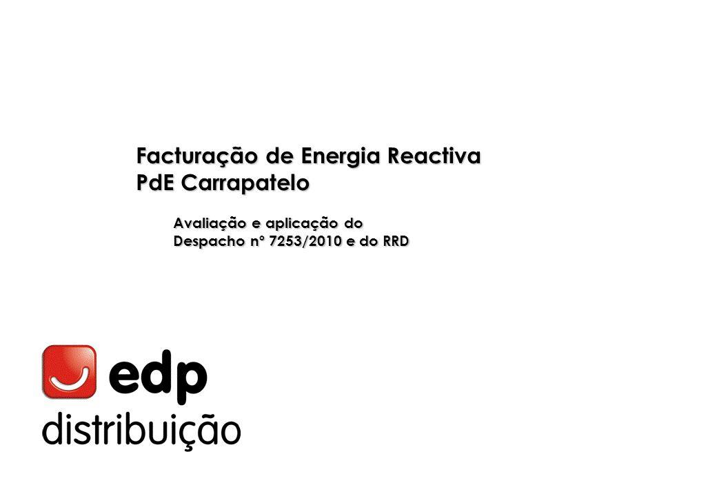 Facturação de Energia Reactiva PdE Carrapatelo Avaliação e aplicação do Despacho nº 7253/2010 e do RRD