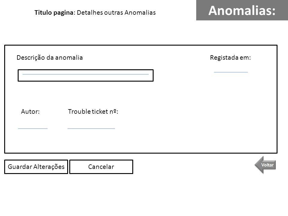 Anomalias: WC Descrição da anomalia Tipo de anomalia (WC, Sala, Outras) Hora Data Últimos registos: SalasOutrasNovaConsulta Titulo pagina: Últimos registos Anomalias