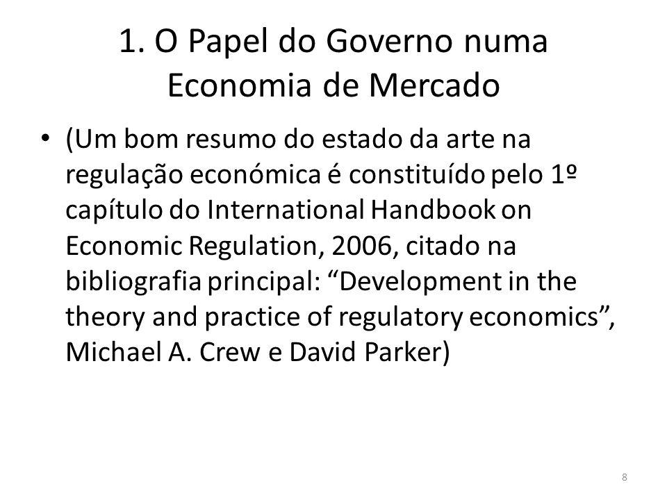 1. O Papel do Governo numa Economia de Mercado (Um bom resumo do estado da arte na regulação económica é constituído pelo 1º capítulo do International