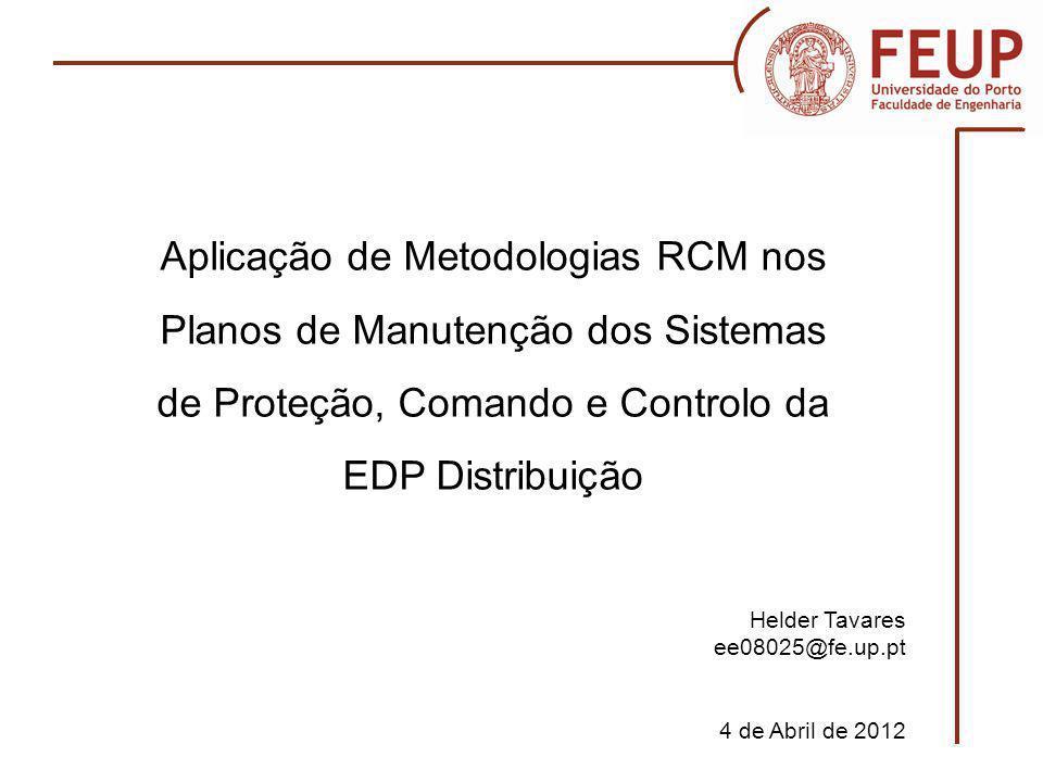 Motivação Revisão da literatura Objetivos Metodologia RCM sugerida Possibilidades de aplicação do RCM no ATOM - OMPRT Tópicos a tratar