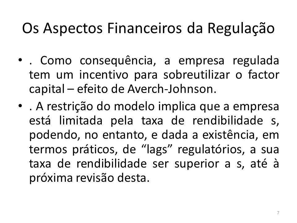 Os Aspectos Financeiros da Regulação.