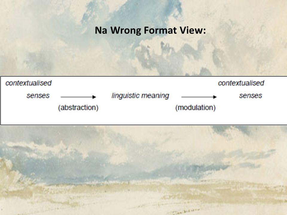 Na Wrong Format View: