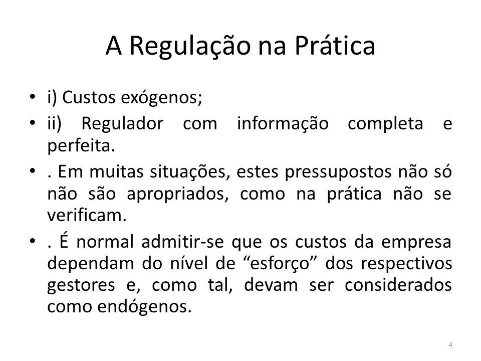 A Regulação na Prática.