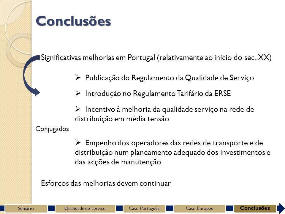 Significativas melhorias em Portugal (relativamente ao inicio do sec.