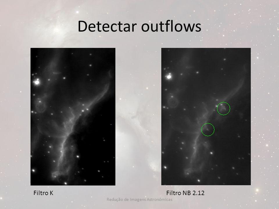 Detectar outflows Filtro KFiltro NB 2.12 Redução de Imagens Astronómicas