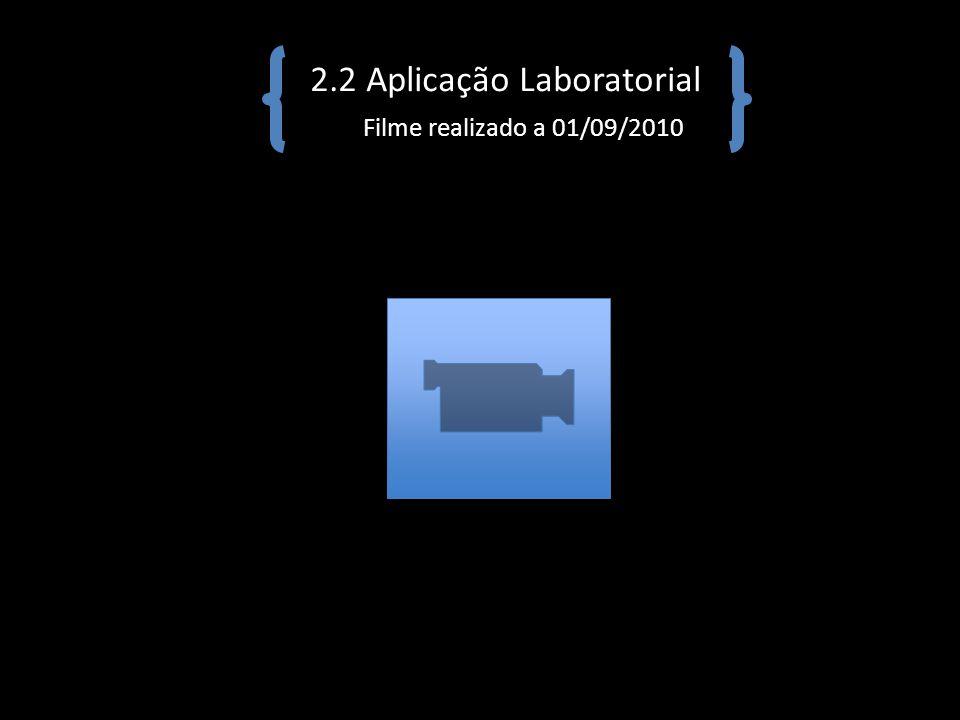 2.2 Aplicação Laboratorial Filme realizado a 01/09/2010