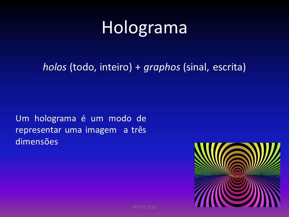 Holografia vs. Fotografia 6ª EVF 2010