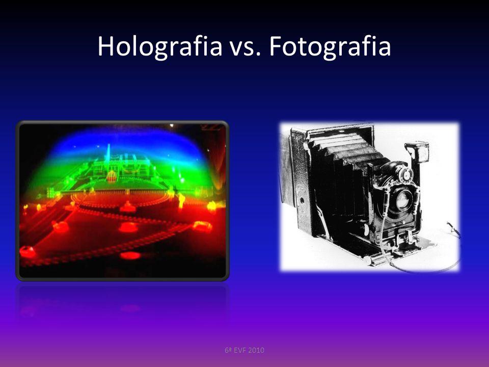 Light Amplification by Stimulated Emission of Radiation Fonte de Luz – Características Coerente Compatível com a placa holográfica Potência correcta 6ª EVF 2010