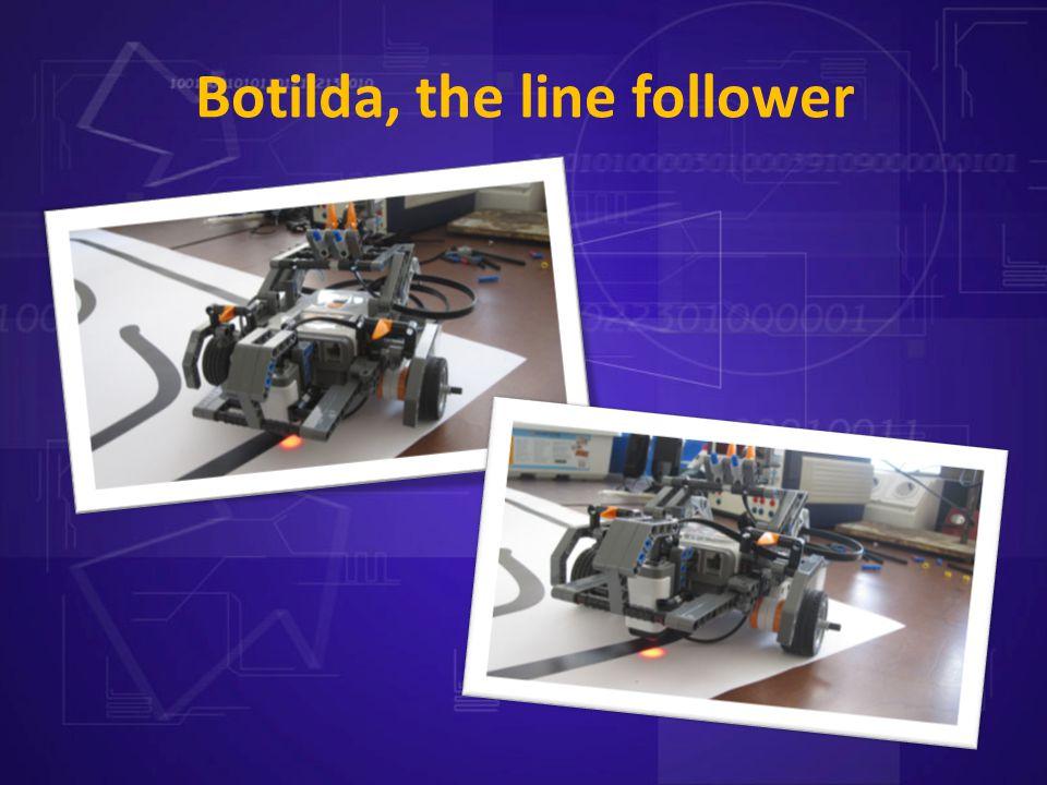 Botilda, the line follower