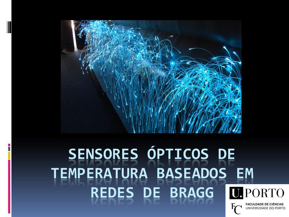 Sumário Objectivo Fibra Óptica Sensores de Fibra Óptica Redes de Bragg Redes de P.