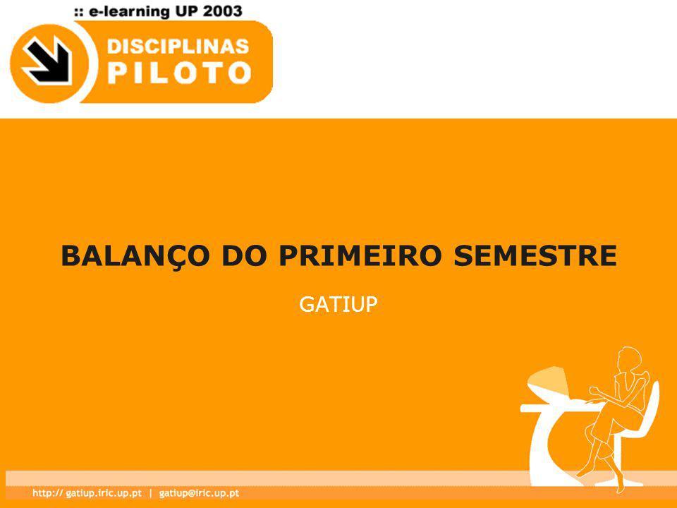 BALANÇO DO PRIMEIRO SEMESTRE GATIUP