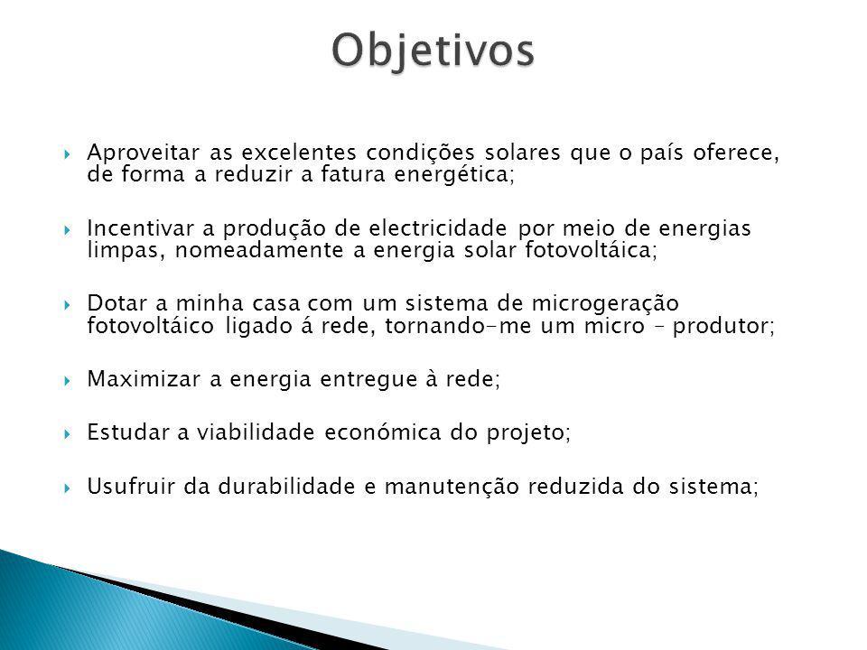 Aproveitar as excelentes condições solares que o país oferece, de forma a reduzir a fatura energética; Incentivar a produção de electricidade por meio