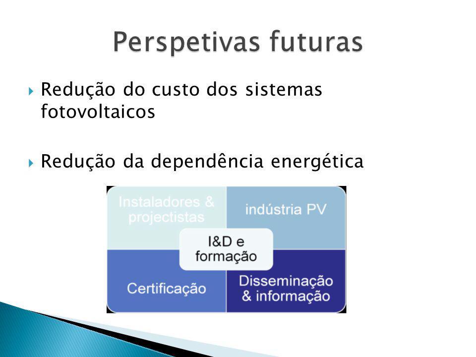 Redução do custo dos sistemas fotovoltaicos Redução da dependência energética