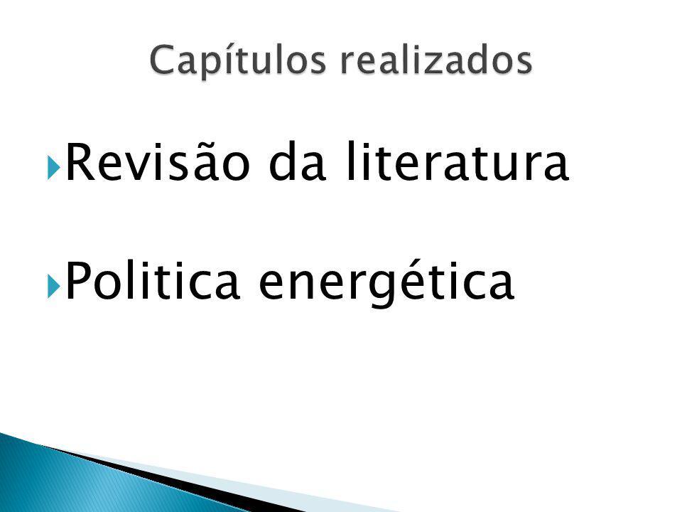 Revisão da literatura Politica energética