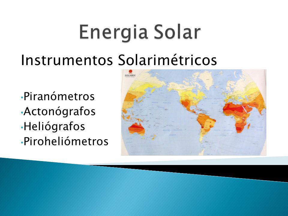 Instrumentos Solarimétricos Piranómetros Actonógrafos Heliógrafos Piroheliómetros