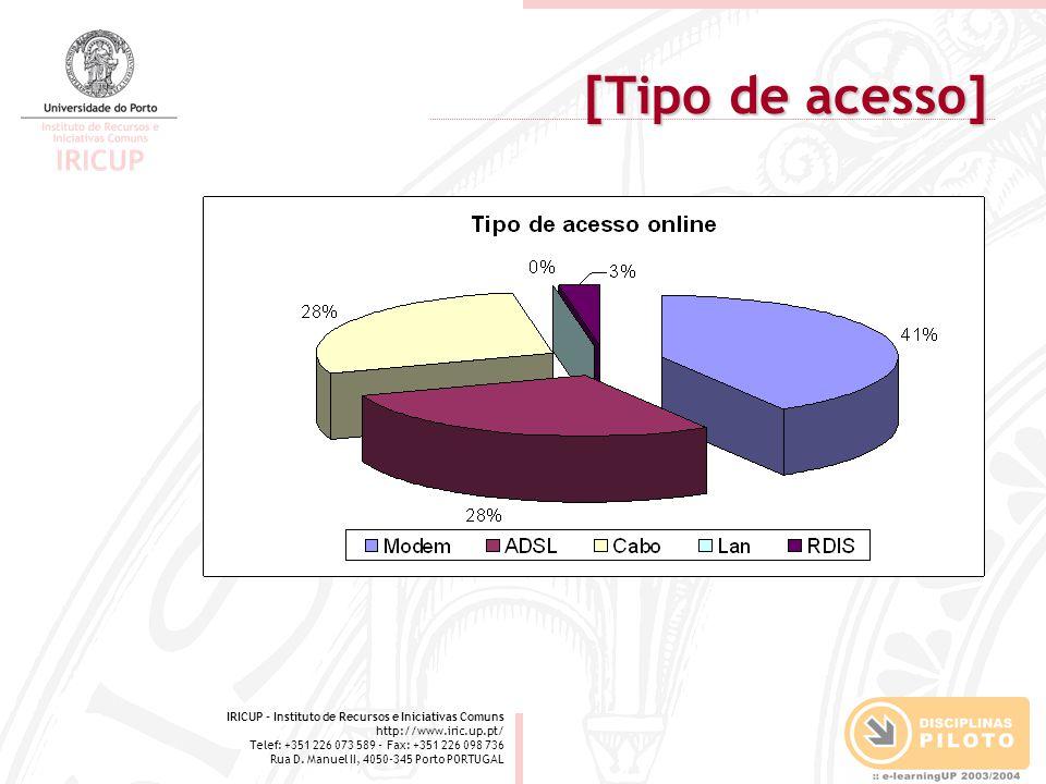 IRICUP - Instituto de Recursos e Iniciativas Comuns http://www.iric.up.pt/ Telef: +351 226 073 589 - Fax: +351 226 098 736 Rua D. Manuel II, 4050-345