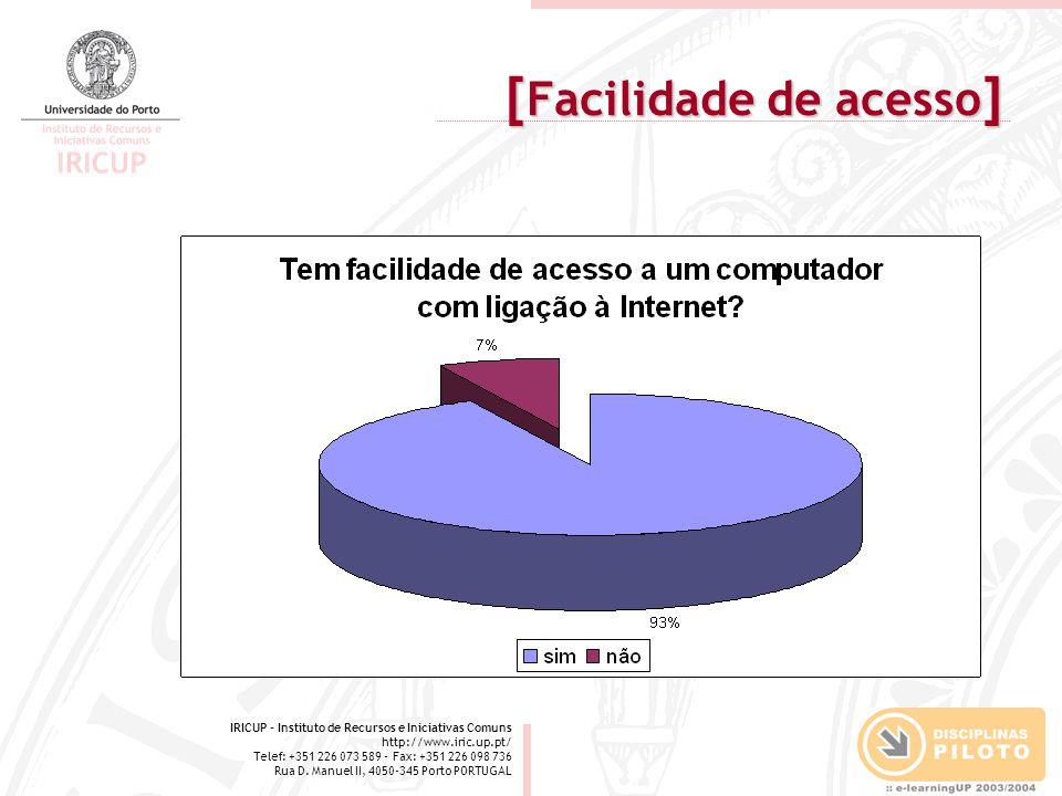 IRICUP - Instituto de Recursos e Iniciativas Comuns http://www.iric.up.pt/ Telef: +351 226 073 589 - Fax: +351 226 098 736 Rua D.