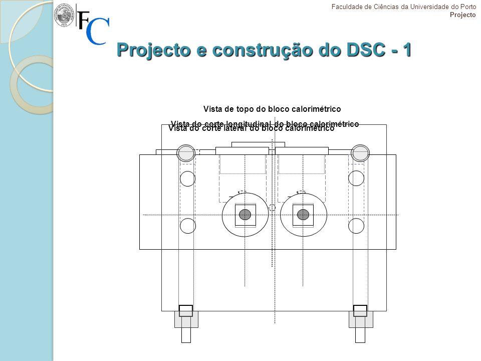 Projecto e construção do DSC - 1 Vista do corte lateral do bloco calorimétrico Faculdade de Ciências da Universidade do Porto Projecto Vista do corte