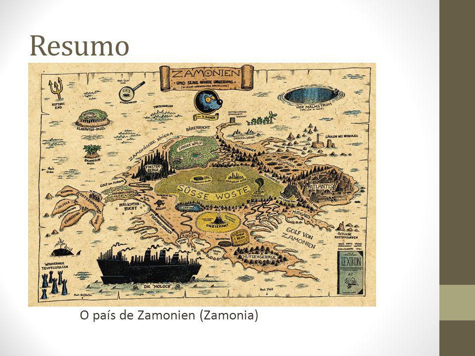 Resumo Estrutura típica dos livros de fantasia ou aventura: Hildegunst von Mythenmetz recebe a missão do seu padrinho de poesia de descobrir um autor desconhecido (que parece ser o melhor do mundo).