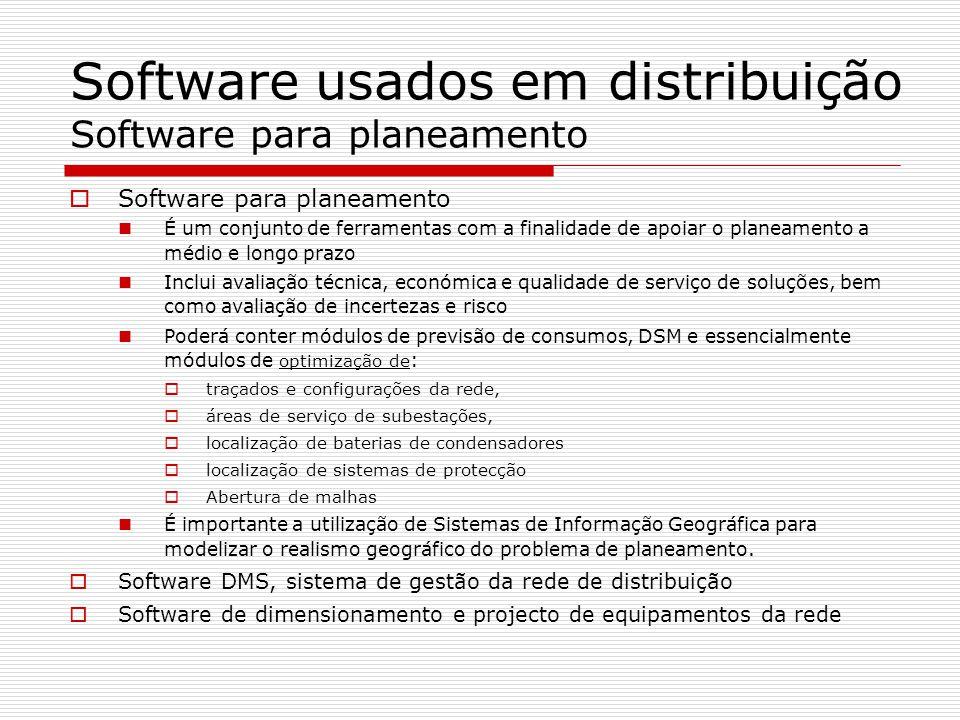 Software usados em distribuição Software para planeamento Software para planeamento É um conjunto de ferramentas com a finalidade de apoiar o planeame