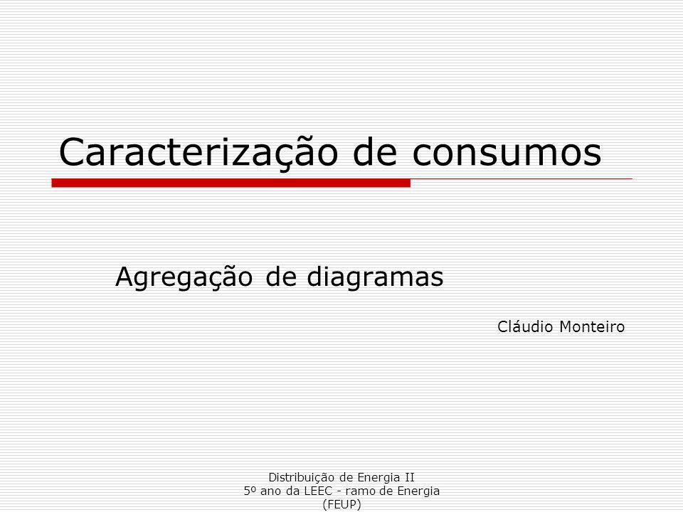 Distribuição de Energia II 5º ano da LEEC - ramo de Energia (FEUP) Caracterização de consumos Agregação de diagramas Cláudio Monteiro