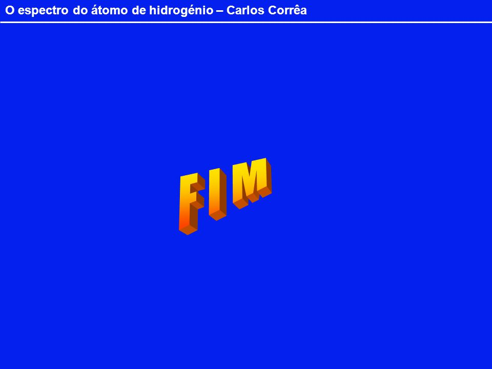 O espectro do átomo de hidrogénio – Carlos Corrêa