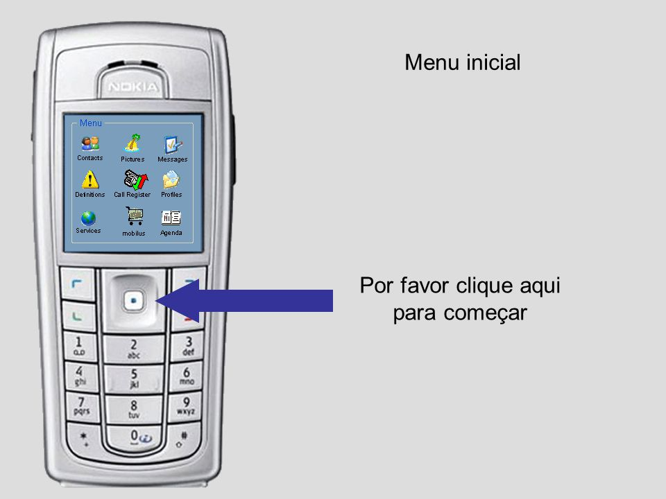 Menu inicial – Add Product