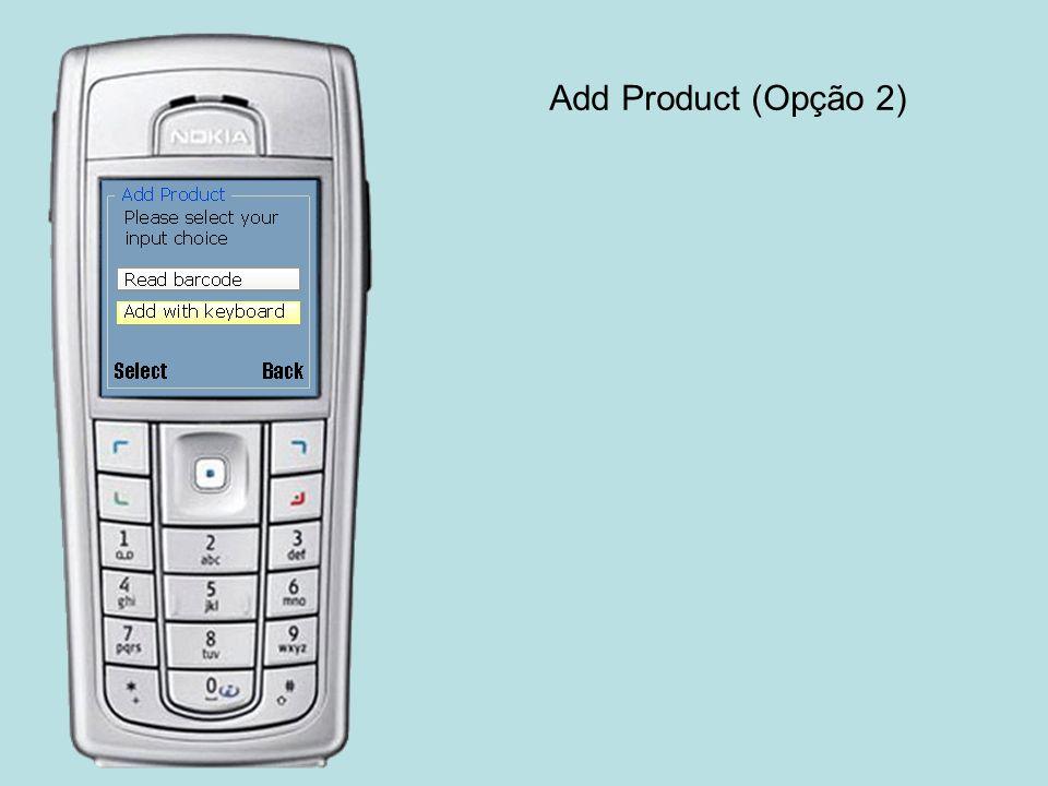 Add Product (Opção 2)