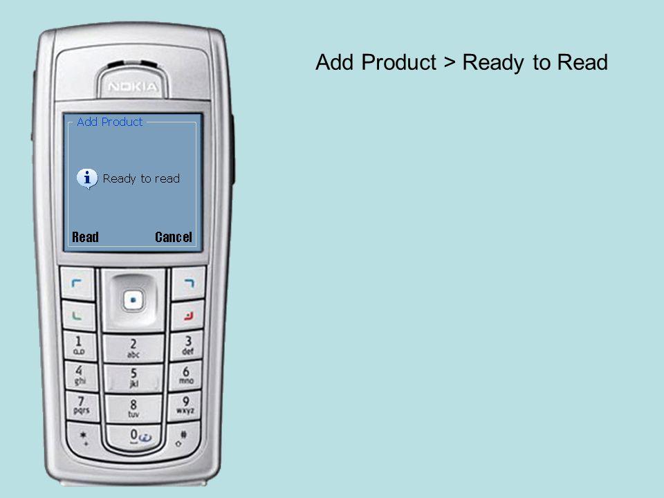 Add Product > Shopping list Created Consoante o sítio de onde vem este ecrã automático pode ir para Add Product > Insert quantity ou para Menu inicial – Add Product Aqui exemplifica-se o segundo por ser mais interessante