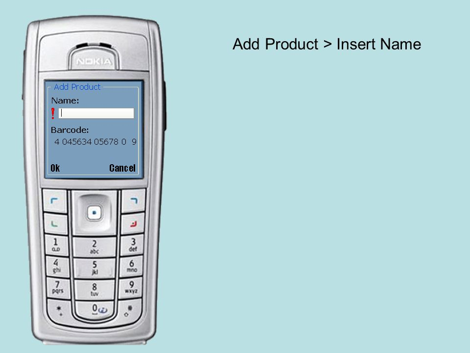Add Product > Insert Name