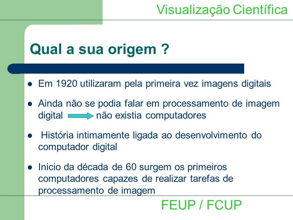 Programa VTK image 2005 Descrição sumária do programa Visualização Científica FEUP / FCUP Imagem Operação unária Operação binária