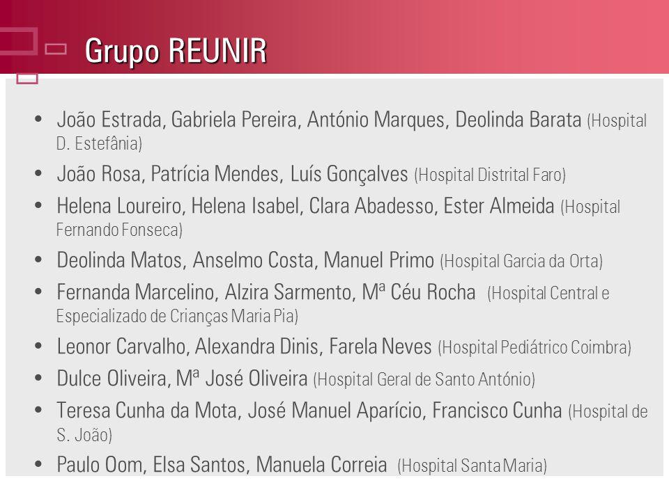 Grupo REUNIR João Estrada, Gabriela Pereira, António Marques, Deolinda Barata (Hospital D.