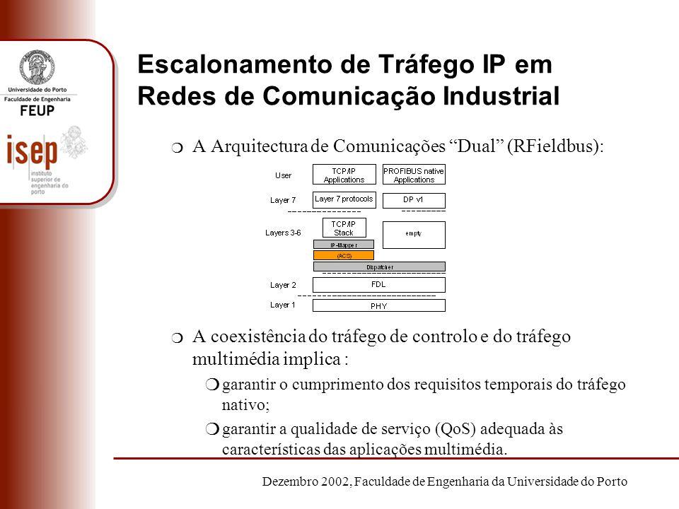 Dezembro 2002, Faculdade de Engenharia da Universidade do Porto Escalonamento de Tráfego IP em Redes de Comunicação Industrial m A Arquitectura de Com