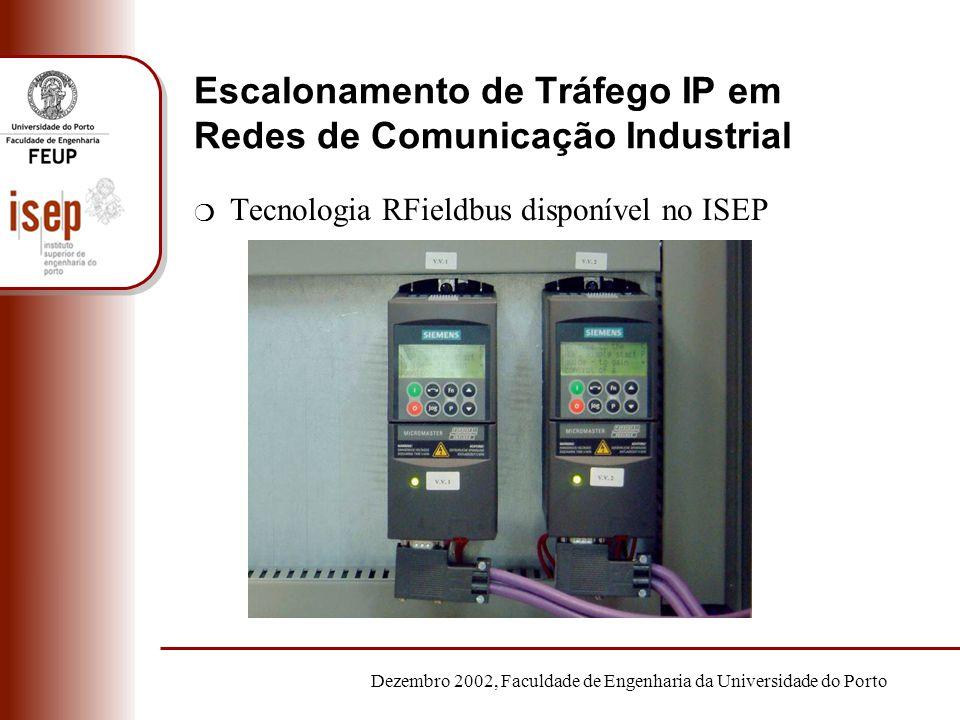 Dezembro 2002, Faculdade de Engenharia da Universidade do Porto Escalonamento de Tráfego IP em Redes de Comunicação Industrial m Tecnologia RFieldbus