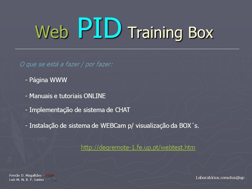 Web PID Training Box Laboratórios.remotos@up Fernão D.