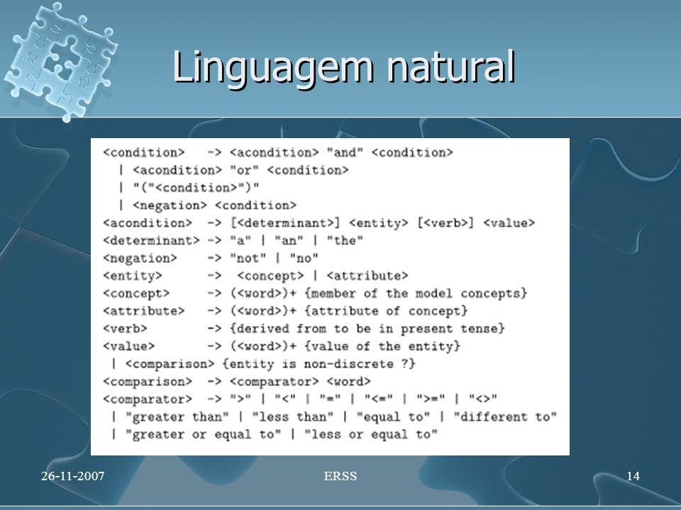 Linguagem natural 26-11-2007ERSS14
