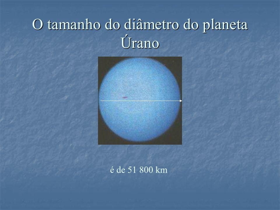 O tamanho do diâmetro do planeta Úrano é de 51 800 km