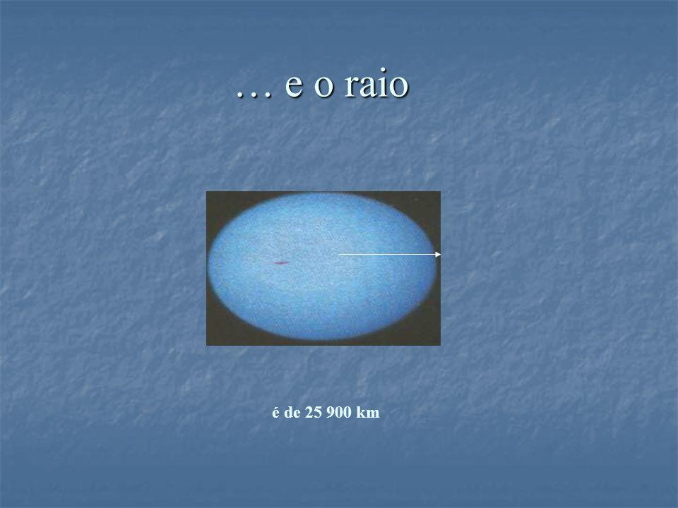 … e o raio … e o raio é de 25 900 km